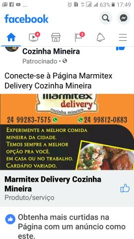 Marmitex Delivery Cozinha Mineira