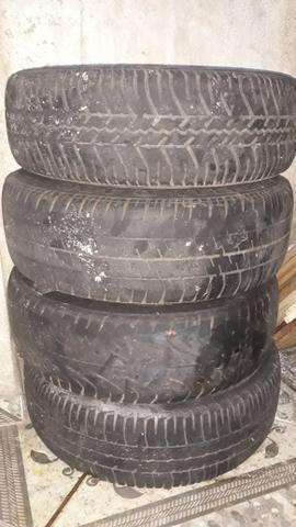 Rodas 13 snowflacke com pneus - Foto 5