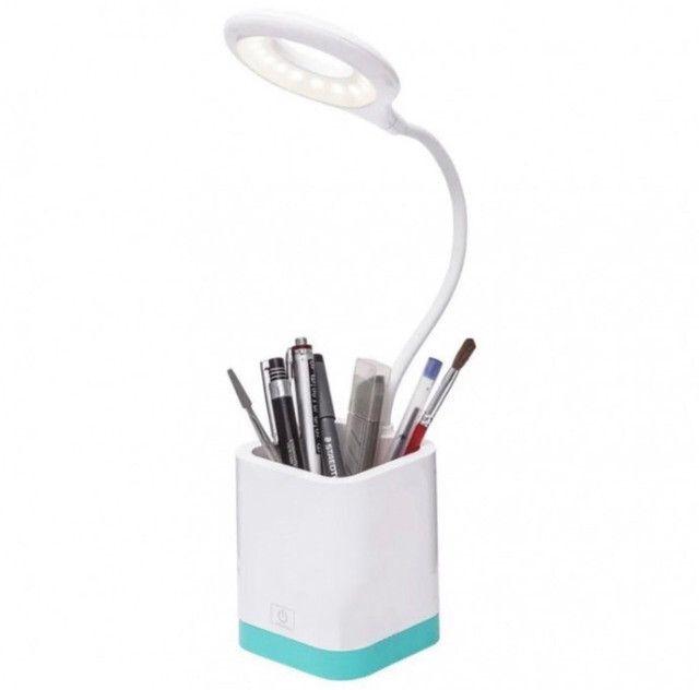 Mini Luminária Led de Mesa Articulada Porta Lápis Xzhang - Up-125 - Foto 2