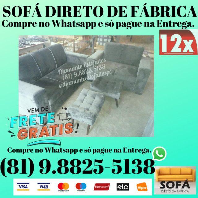 Conjunto 2 e 3 Lugares Frete e Puff Grátis R$ 799,00
