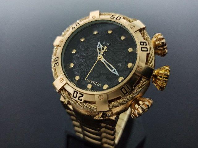 Relógio Masculino dourado thunderbolt - Foto 3