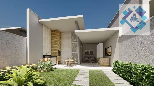Casa com 3 dormitórios à venda, 98 m² por R$ 340.000 - Parnamirim - Eusébio/CE