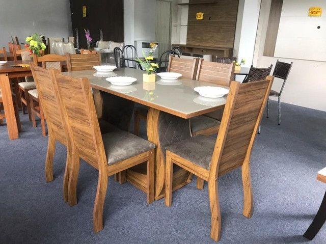 Mesa de Jantar Viero 6 Cadeiras  160/80  - Foto 4