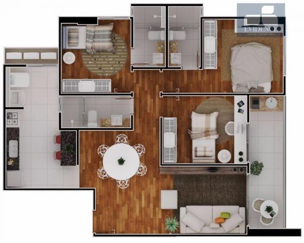 Apartamento com 03 quartos e varanda Goumert, Jardim Luna!!!