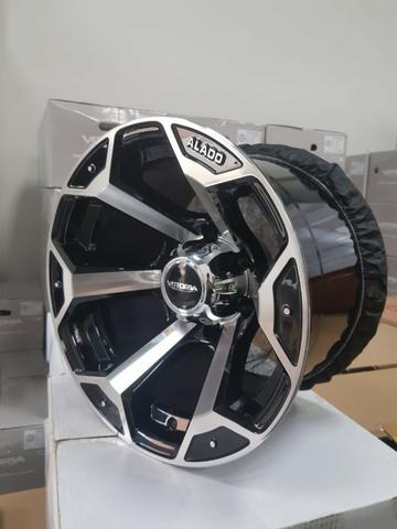 Rodas aro 15 15x10 Alado Offset ET -44 Troller S10 Toyota Hilux Triton Pajero Mitsubishi
