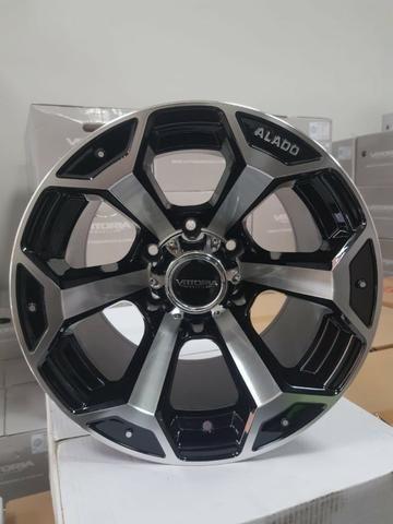 Rodas aro 15 15x10 Alado Offset ET -44 Troller S10 Toyota Hilux Triton Pajero Mitsubishi - Foto 2