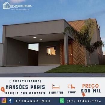 Mansões Paris - Oportunidade 450 Mil