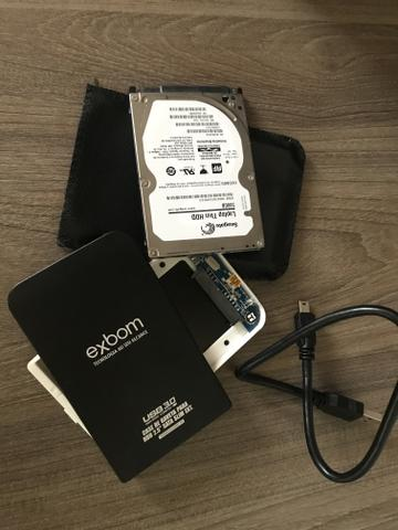 HD de 500 Gb com Case - Foto 3