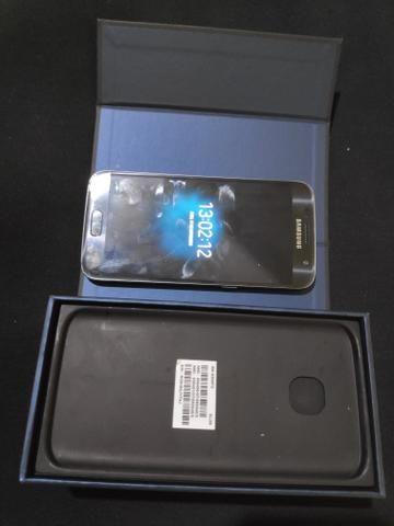 Smartphone Samsung Galaxy s7 flat tela amoled impressão digital