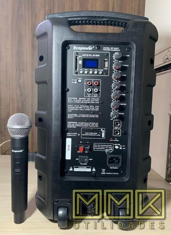 Caixa De Som Amplificada Ecopower 10 polegadas Bluetooth- Nova - Foto 3