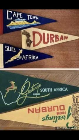 Conjunto 6 Flâmulas Antigas da África do Sul, Colecionador ( ver fotos ) - Foto 3