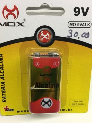 Bateria alcalina 9v a unidade