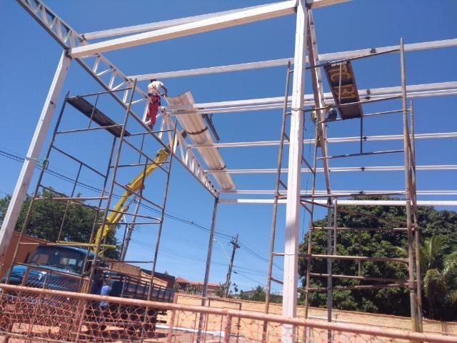 6b6791e98 Galpão Metálico (cobertura), fundação, forma , ferragem e concretagem