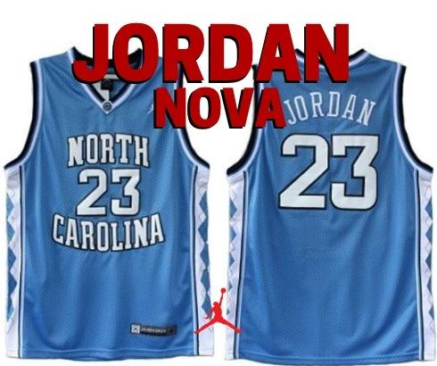 ae332e473 Camisa De Basquete Carolina Do Norte Michael Jordan (Nova) Camisa De Time