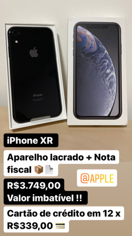 Disponível iPhone XR Lacrado + Nota fiscal