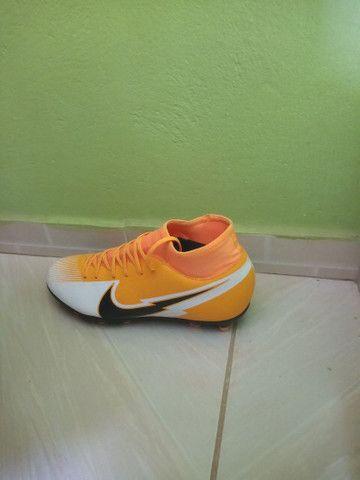 Chuteira Campo Nike Mercurial Superfly 7 Club FG - Laranja+Preto<br>  - Foto 2