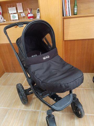 Carrinho de bebe Norton 3 em 1 moises, Mobi e carrinho - Foto 2