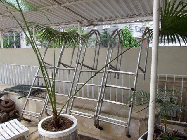 Escada Em Aço Inoxidável 1¹/2'' Com 4 Degraus Inox Para Piscina