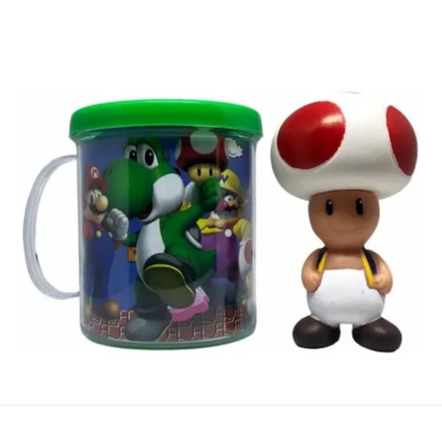 Boneco Toad + Caneca Personalizada- Super Mario Bros - Loja Coimbra - Foto 3