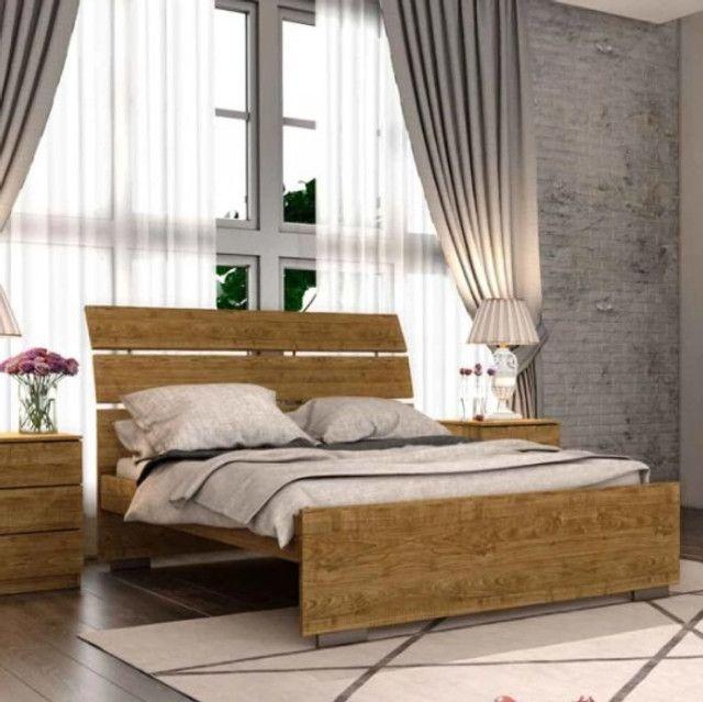 Cama Casal Premium 100% MDF - Foto 2