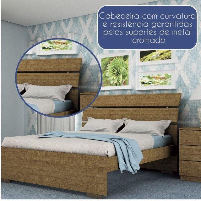 Cama Casal Premium 100% MDF - Foto 6