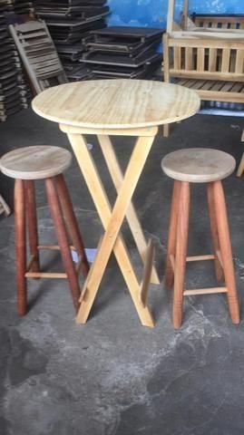 Mesa de madeira (ideal para bar e restaurante) novas - Foto 6