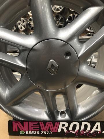 Rodas Renault Aro 15 Semi Novas - Foto 2
