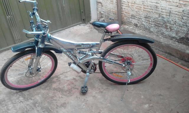 Bicicleta com freio adisco - Foto 4