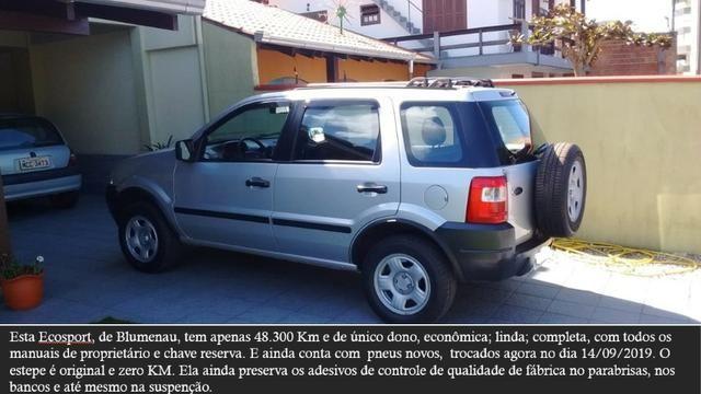 Ford Ecosport 1.6 completa, (Único Dono ) 48.300Km originais - Foto 7