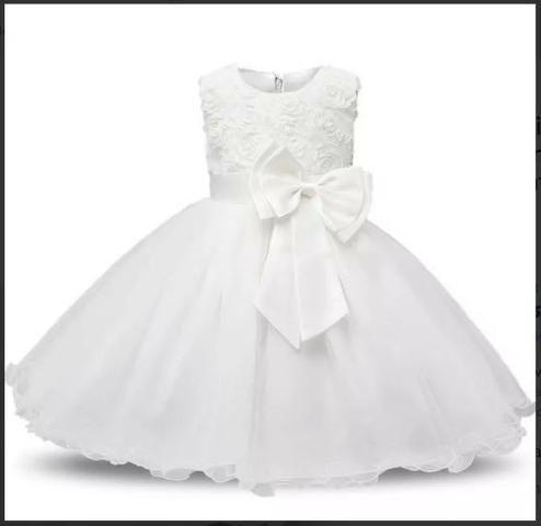 d8de4df7bf Vestido Infantil Festa Criança Princesa Laço Pronta Entrega ...
