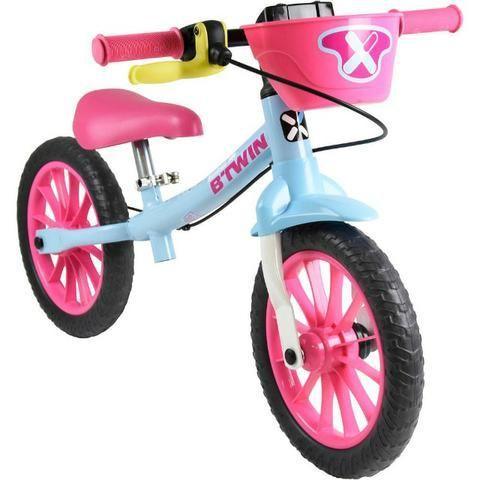 065c57a2e9 Bicicleta infantil de equilíbrio Balance Bike feminina Aro 12 Btwin Runride  500 Rosa Nova