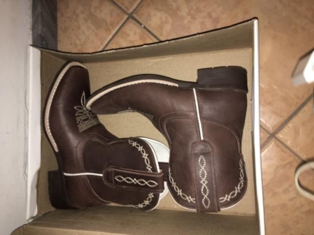 00043f4f6d Botina Bota Feminina Cano Curto Couro Marrom Cow Way - Roupas e ...