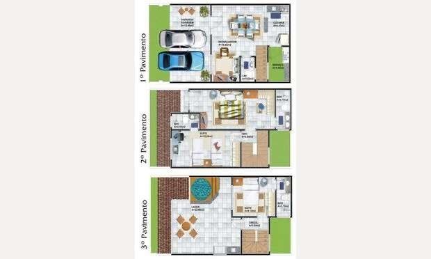 Village Dunas Del Mare, casa tríplex com 3 quartos, 2 vagas, Manoel Dias Branco - Foto 5