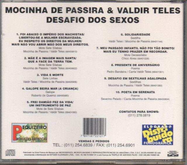 Cd - Mocinha De Passira E Valdir Teles - Vol. 01 - Foto 2