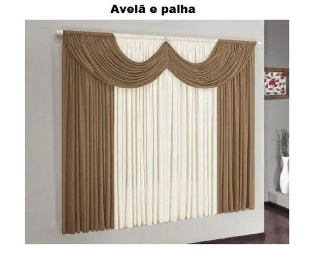 Cortina para janela modelo Riviera: 2,00  X 1,70 m de altura - Aprop.. para varão Simple - Foto 5