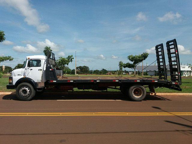 Caminhão Plataforma MB 1314 ano 87 - Foto 3