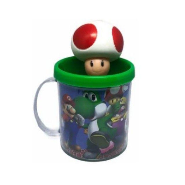 Boneco Toad + Caneca Personalizada- Super Mario Bros - Loja Coimbra - Foto 2
