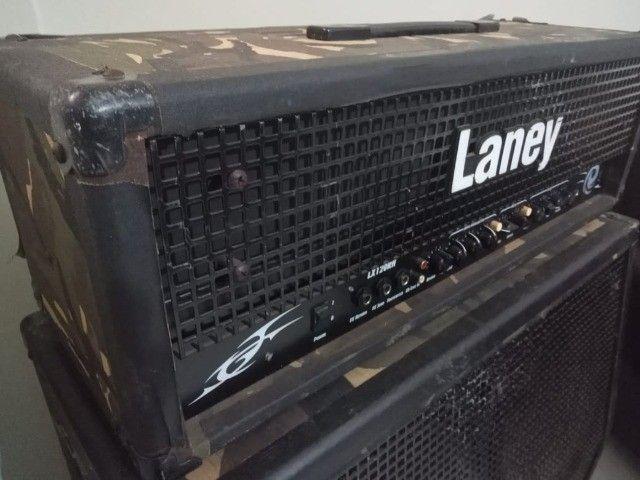 Cabeçote cubo amplificador de guitarra Laney LX120RH Camo + caixa Laney LX412A Camo - Foto 3