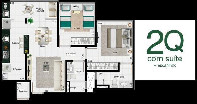 Apartamento 2Q Terra Mundi Parque Cascavel - Foto 6
