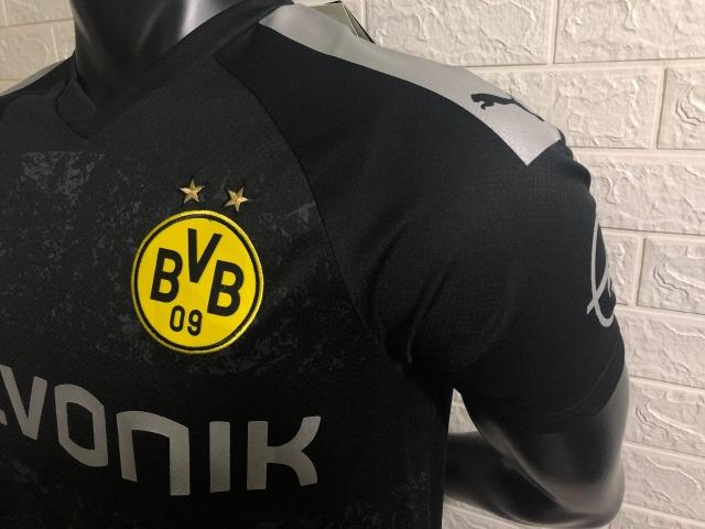 Camisa Borussia Dortmund 2019/2020 - Preto - Foto 3