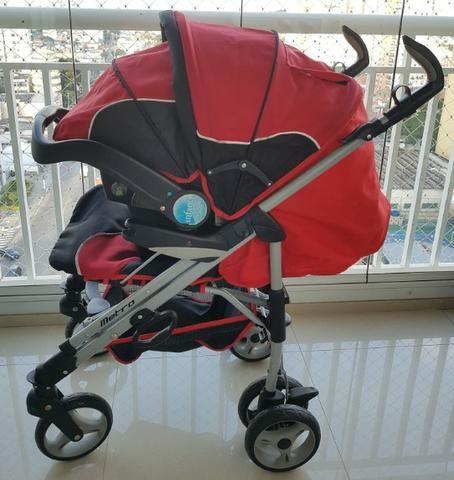 Carrinho + bebê conforto + base isofix Infanti - Foto 2