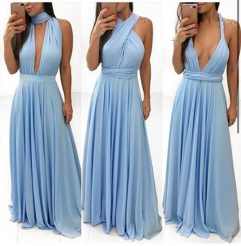 Vestido Mil Formas Azul Serenity