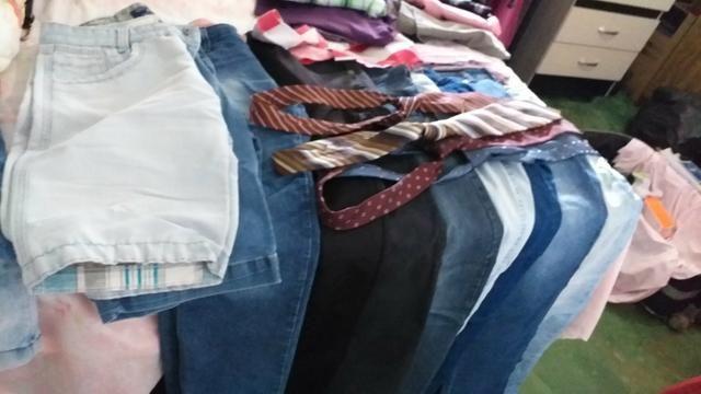 8 calças jeans masculina 15 camisas - Foto 3