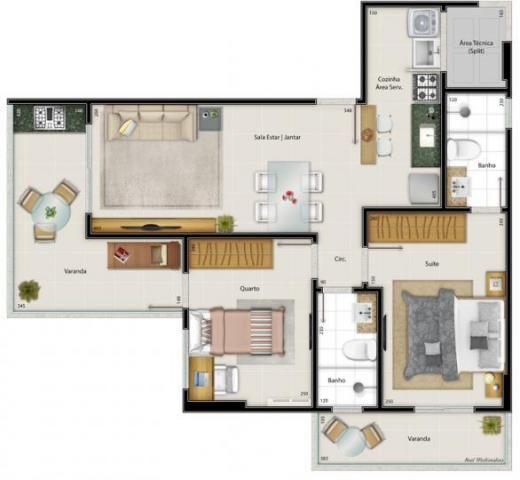 Apartamento para venda em vitória, praia do canto, 2 dormitórios, 1 suíte, 2 banheiros, 2  - Foto 13