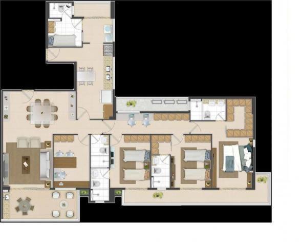 Apartamento residencial à venda com 04 suítes, meireles, fortaleza. - Foto 11