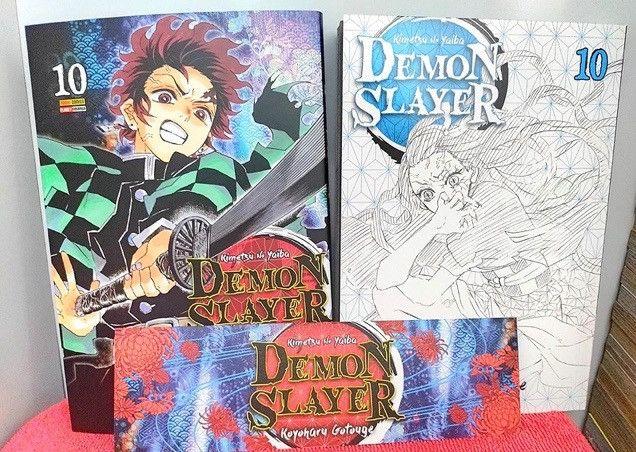 Troco por jogos de ps4 Mangás Demon Slayer vol 1-10 (Kimetsu No Yaiba) - Foto 4