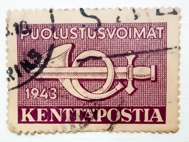 3 Selos Finlandeses 1943 e 1944 - Puolustusvoimat - Raridade - Foto 3