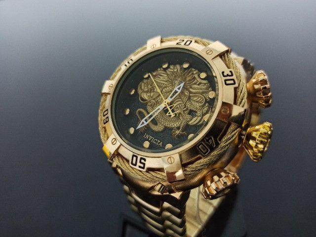 Relógio Masculino dourado thunderbolt - Foto 4