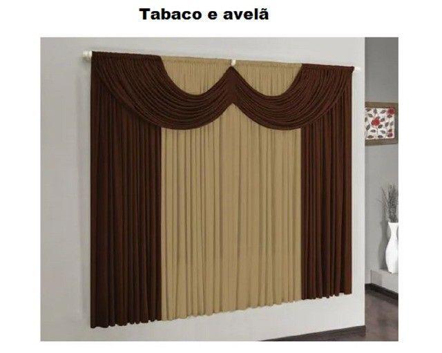 Cortina para janela modelo Riviera: 2,00  X 1,70 m de altura - Aprop.. para varão Simple - Foto 3