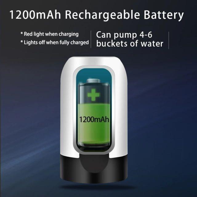 Bomba Elétrica De Galão Universal Com Carregamento USB Para Galão/Garrafão De Água - Foto 3